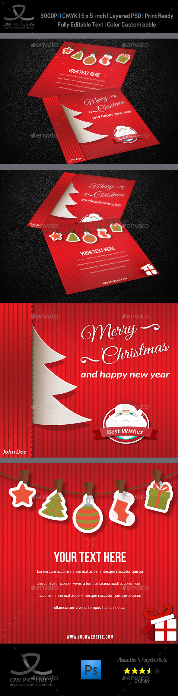 Christmas and New Year Greeting Card Vol.3 - Greeting Cards Cards & Invites