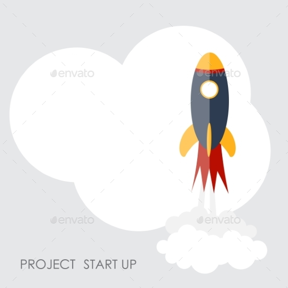 Quick Start Up Flat Concept Vector Illustration - Web Technology