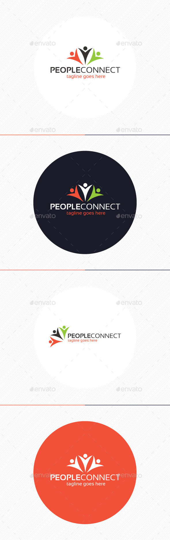 People Connect Logo - Humans Logo Templates