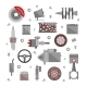 Set of Auto Spare Parts - GraphicRiver Item for Sale