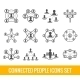 Connected People Black Icons Set - GraphicRiver Item for Sale
