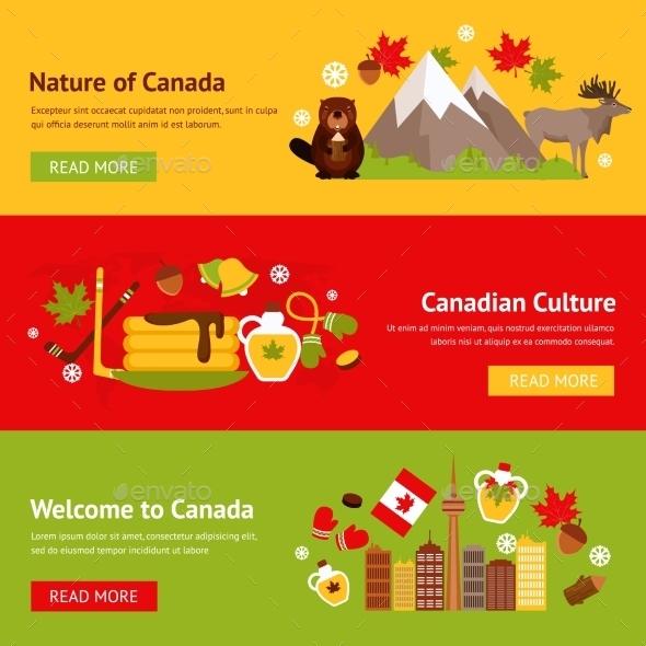 Canada Banner Set - Travel Conceptual