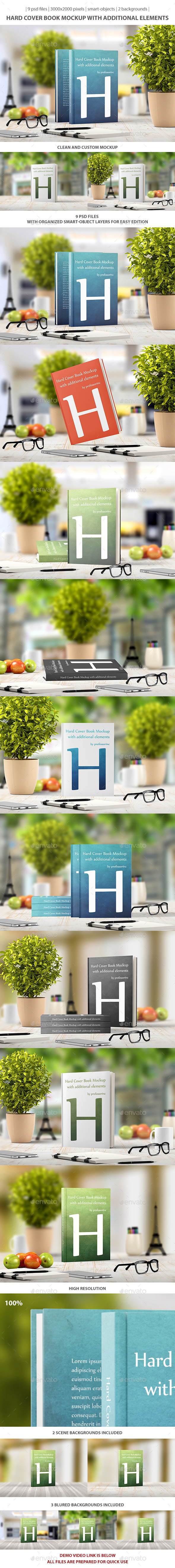 Hard Cover Book Mockup - Books Print
