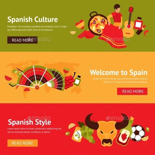 Spain Banner Set - Travel Conceptual