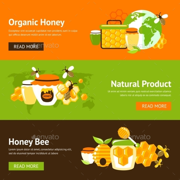 Honey Banner Set - Food Objects