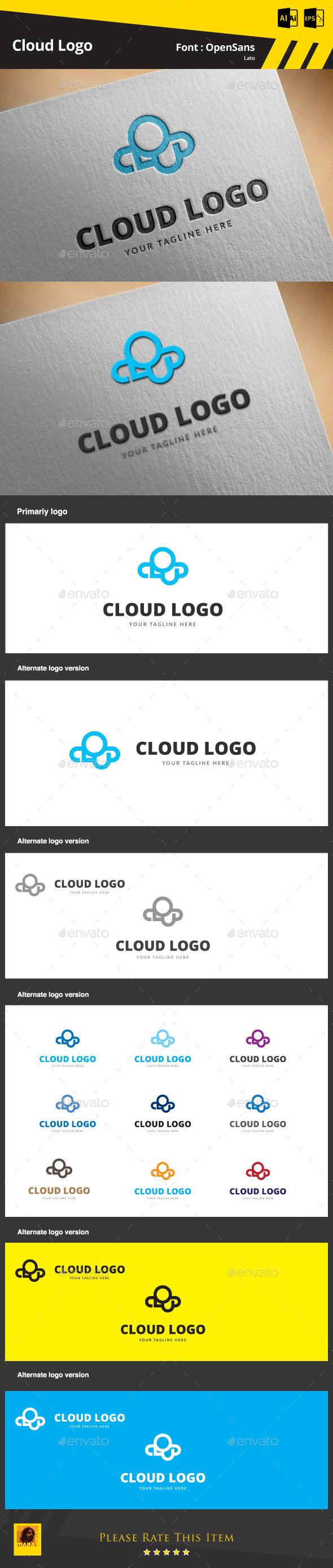 Cloud Logo Template - Symbols Logo Templates