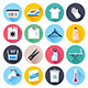 Laundry and Housework Flat Icons - GraphicRiver Item for Sale