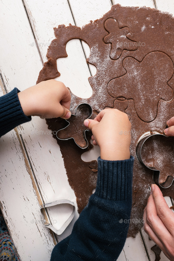 Making christmas cookies - Stock Photo - Images