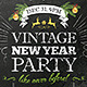 Vintage New Year Party Flyer, Invitation, Banner - GraphicRiver Item for Sale