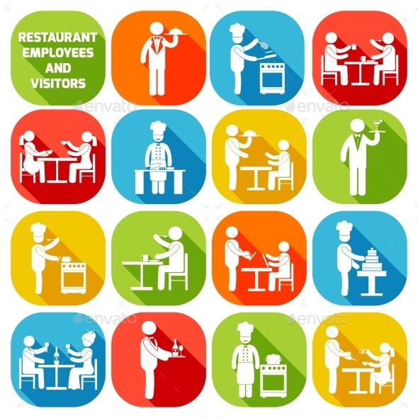 Restaurant Employees White - People Characters