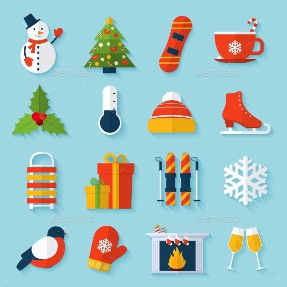 Winter Stickers Set - New Year Seasons/Holidays