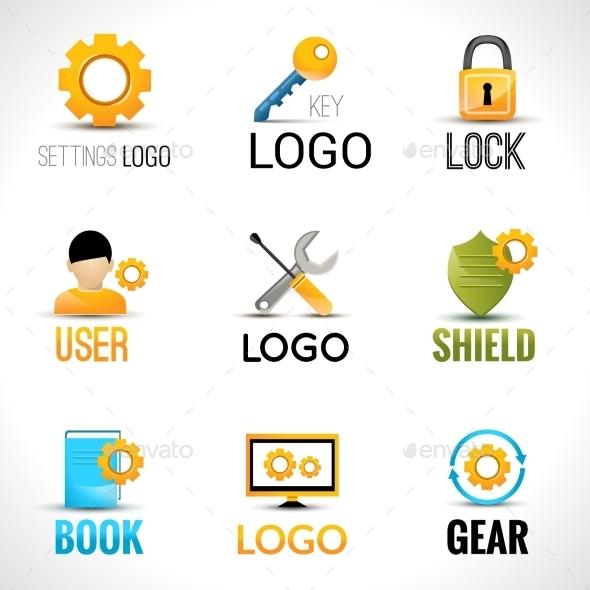 Settings Logo Set - Technology Conceptual