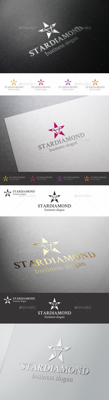 Star Diamond Logo Template