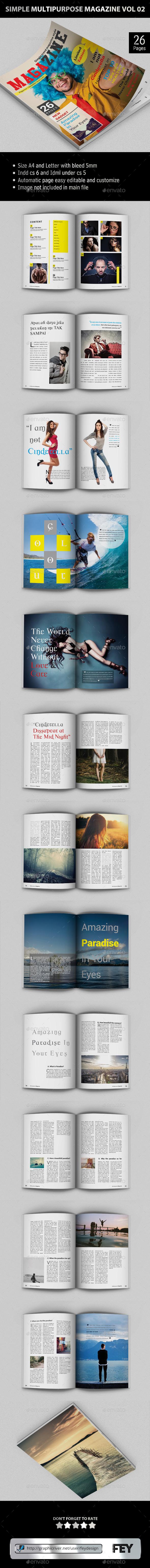 Simple Multipurpose Magazine Vol.02 - Magazines Print Templates