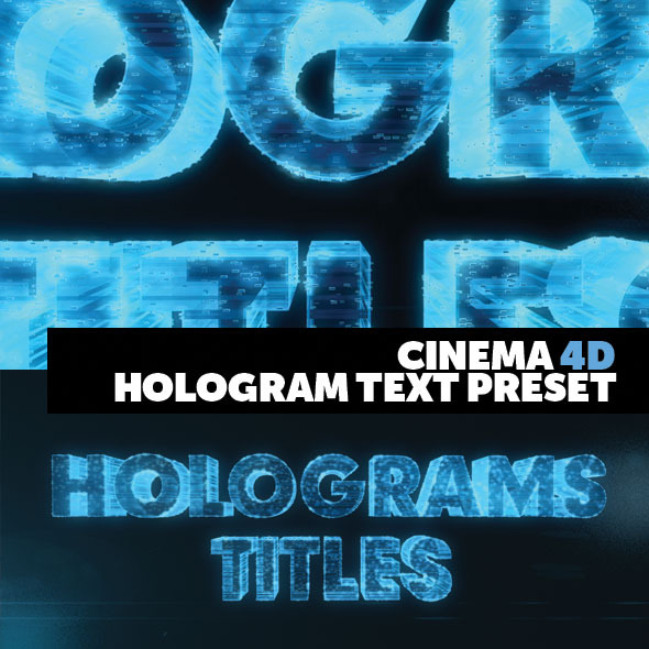 Cinema 4D Title Preset Holograms Style - 3DOcean Item for Sale