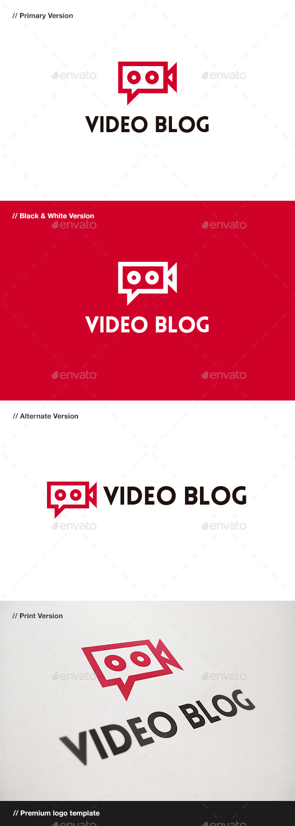 Video Blog Logo - Objects Logo Templates