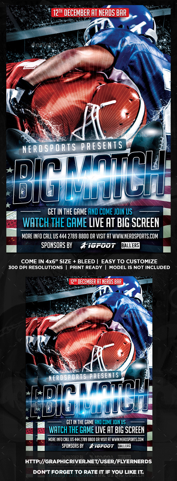 Football Big Match Flyer - Sports Events