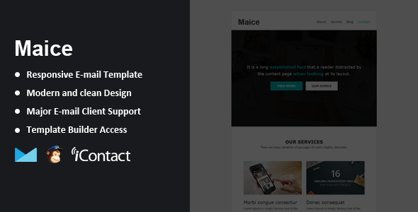 Maice – Responsive Email + Themebuilder Access