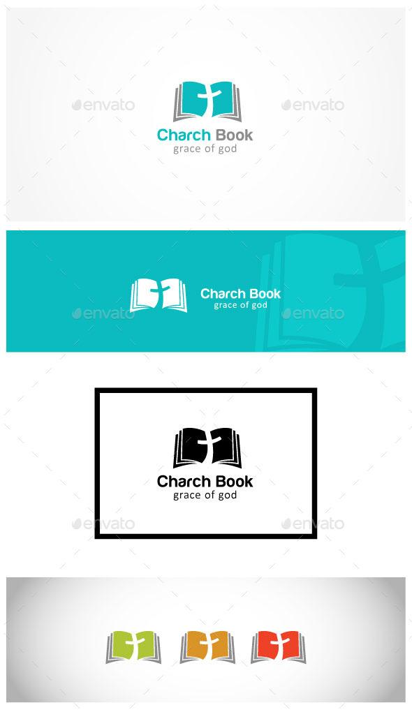 Christ Cross Book - Symbols Logo Templates