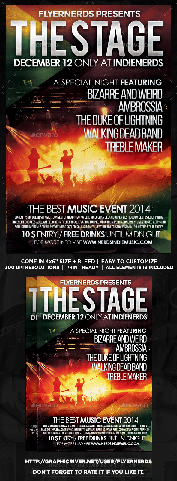 The Stage Music Flyer - Concerts Events