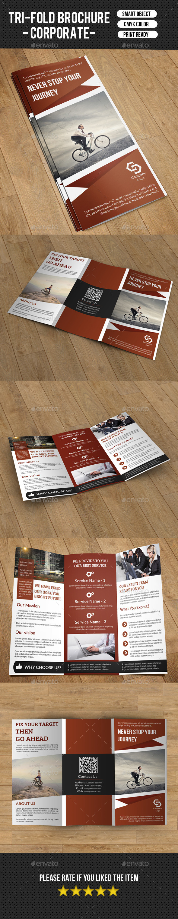 Trifold Business Brochure-V183 - Corporate Brochures