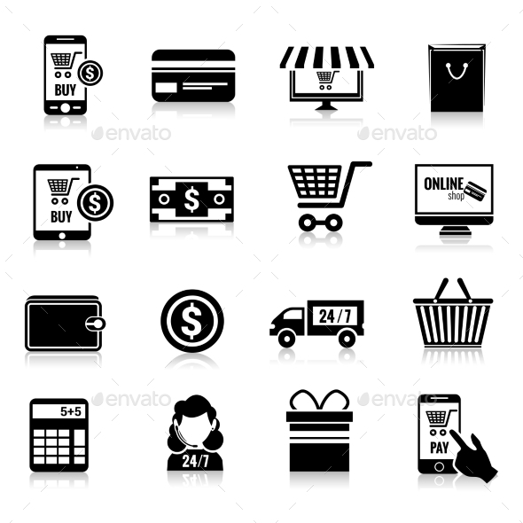 E-commerce Icons  - Retail Commercial / Shopping