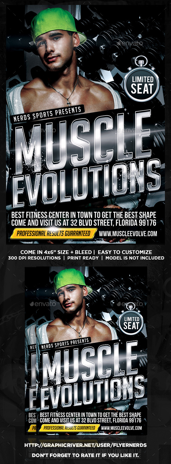Muscle Evolutions Sports Flyer - Sports Events