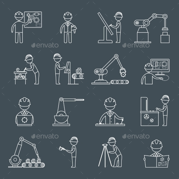 Engineering Icons Outline - Web Technology
