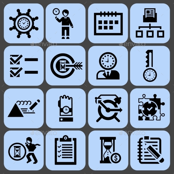 Time Management Icons - Business Icons