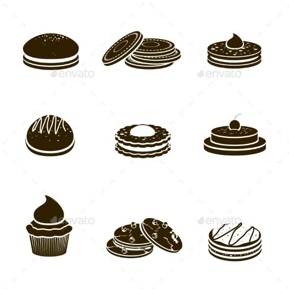 Cookies Black Set - Food Objects