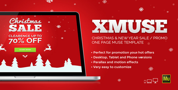XMuse – Christmas Sale / Promo Muse Template