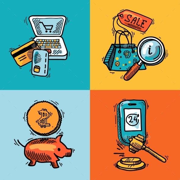 E-commerce Design Sketch Concept - Commercial / Shopping Conceptual