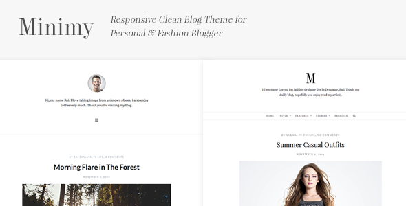 Minimy – Responsive Clean Personal & Fashion Blog