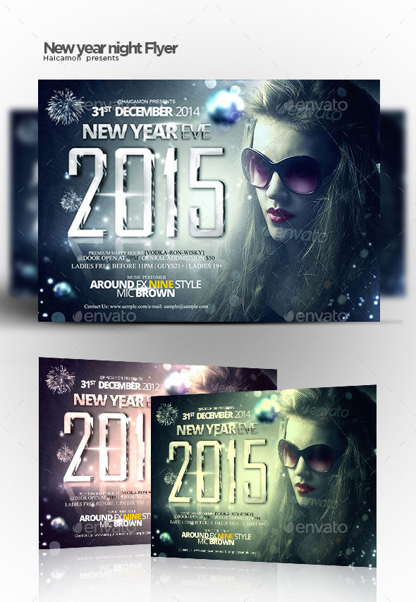 New Year Night Party Flyer - Flyers Print Templates