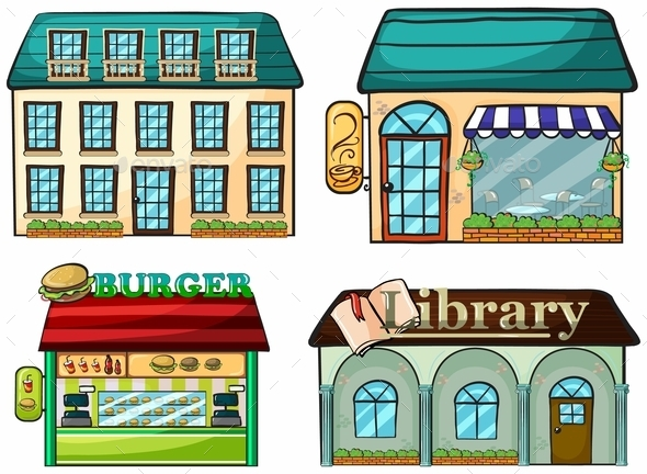 Shops Set - Buildings Objects