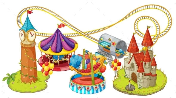Funfair Games - Buildings Objects