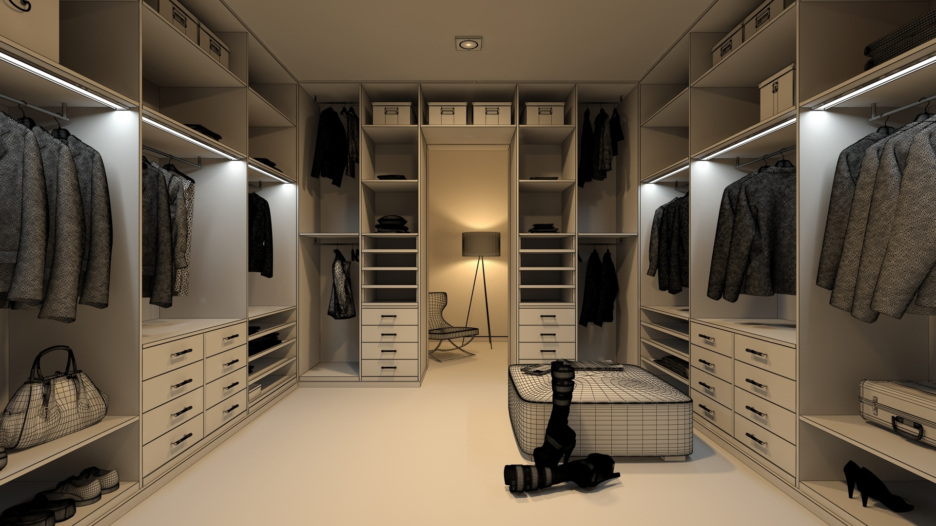 Dressing room 0340 by themerex 3docean for Configurateur dressing 3d