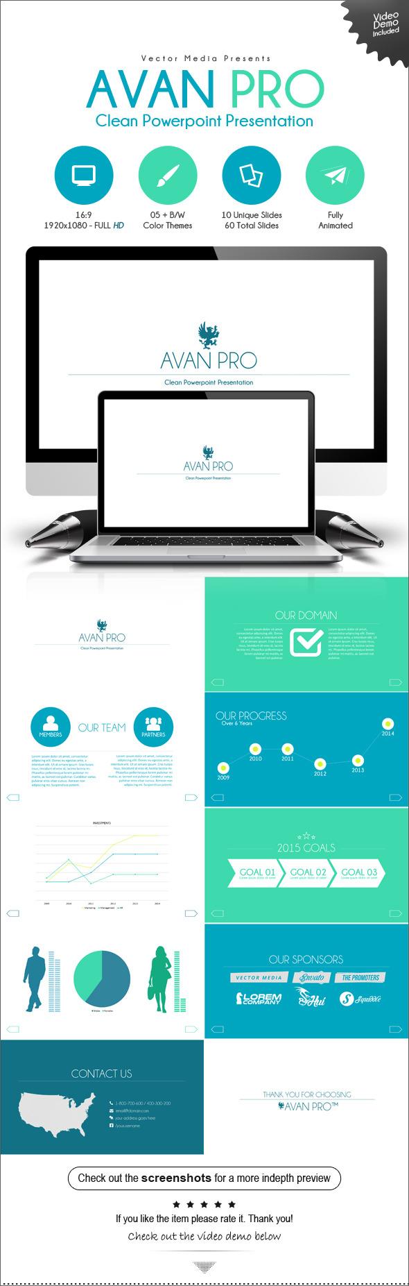 Avan Pro - Powerpoint Presentation - Business PowerPoint Templates