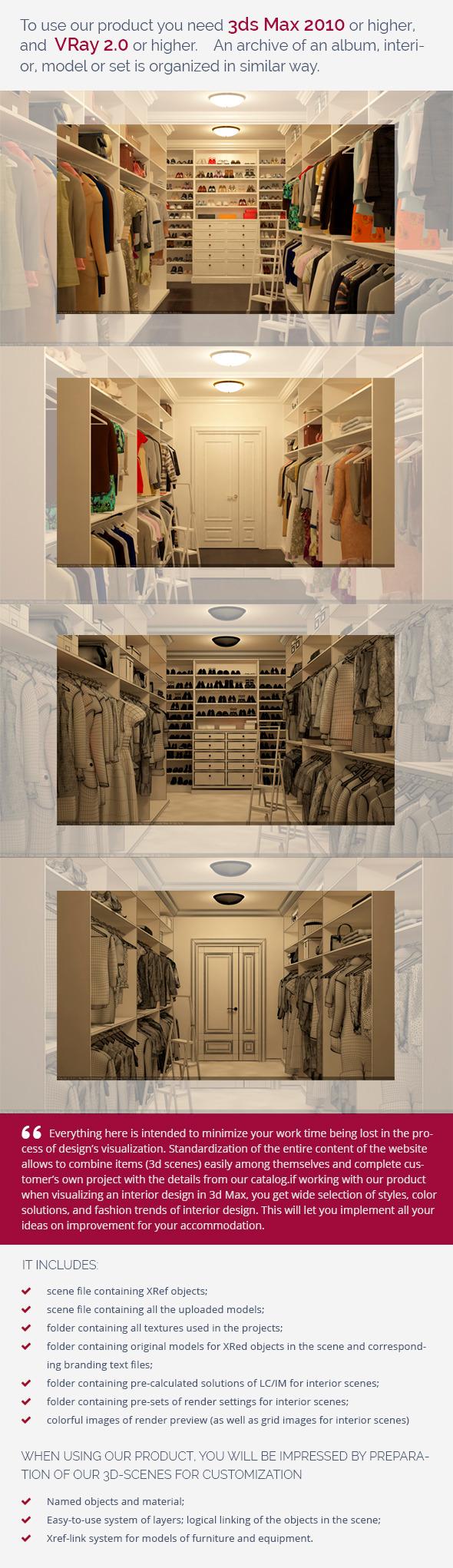 Dressing Room 0346 - 3DOcean Item for Sale