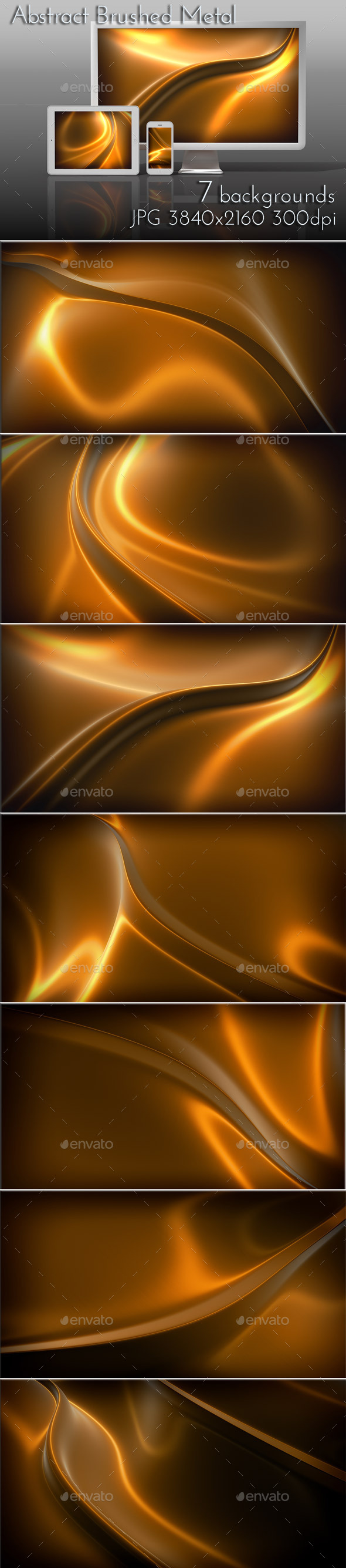 Bronze Metal Brushed Surface - 3D Backgrounds