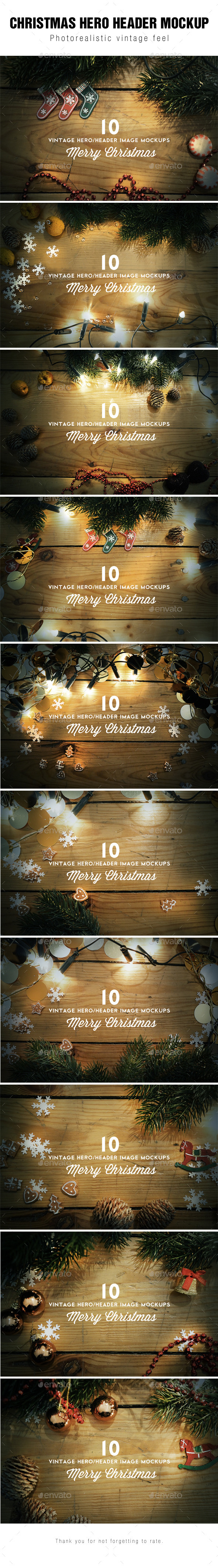 Christmas Hero / Header Images Mockup - Hero Images Graphics