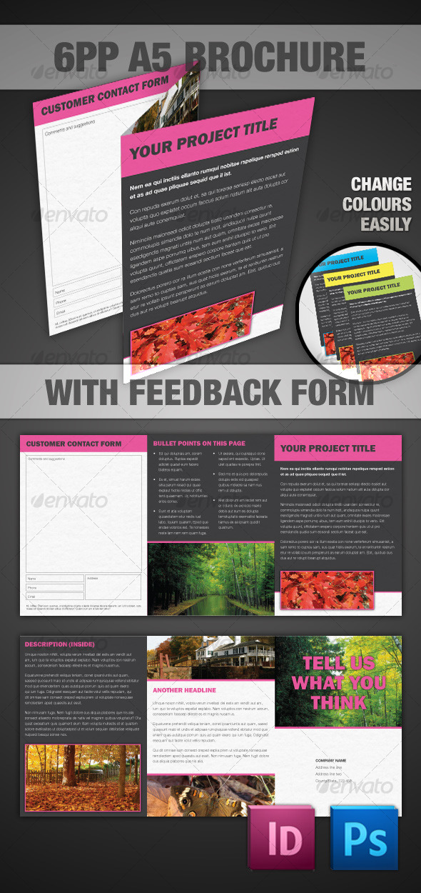 6pp A5 Brochure - InDesign & Photoshop - Corporate Brochures