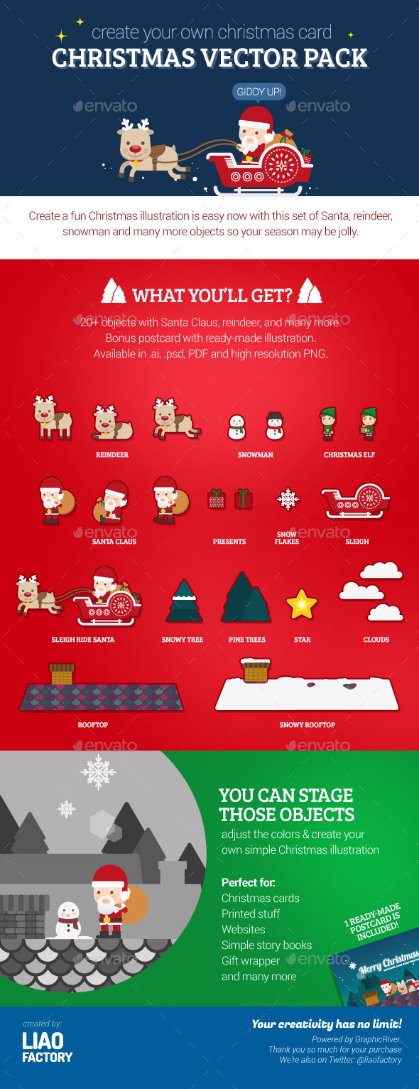 Christmas Vector Pack - Miscellaneous Characters