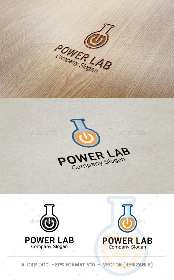 Power Lab Logo - Objects Logo Templates