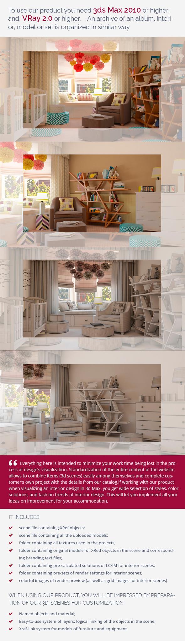 Nursery 0448 - 3DOcean Item for Sale