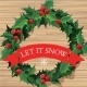 Christmas Wreath with Text Banner - GraphicRiver Item for Sale