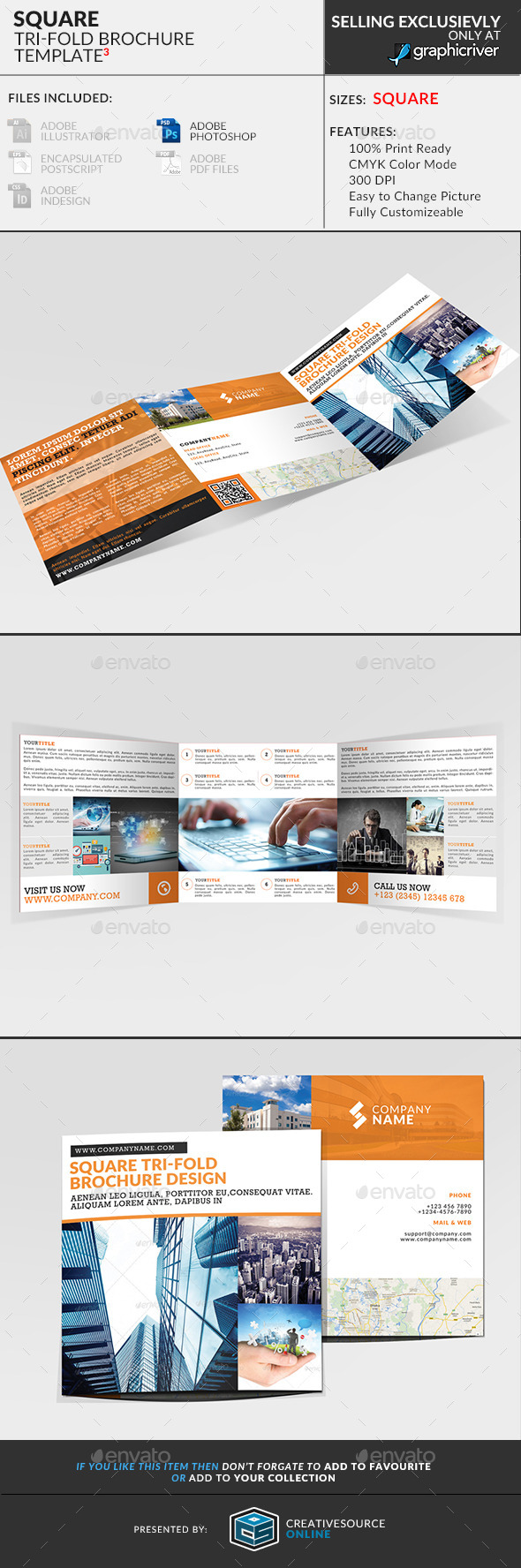 Square Trifold Brochure 3 - Corporate Brochures