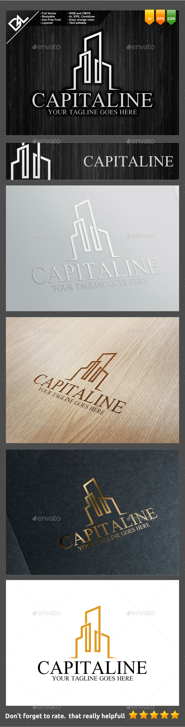 Capitaline - Objects Logo Templates
