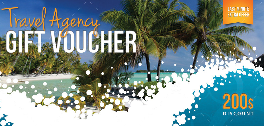 Travel Agency Gift Voucher By Rapidgraf Graphicriver