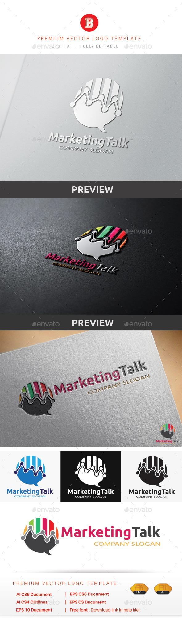Marketing Talk - Symbols Logo Templates